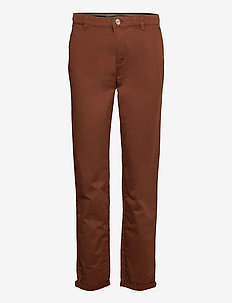 Pants woven - chinos - brown