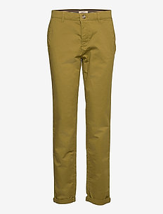 Pants woven - chinos - olive