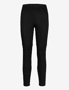 Pants woven - trousers with skinny legs - black