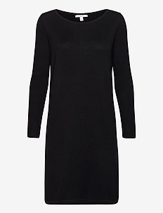 Dresses flat knitted - strikkjoler - black