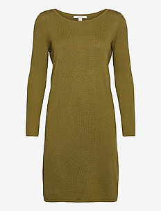 Dresses flat knitted - strikkjoler - olive 5