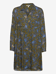 Dresses light woven - skjortekjoler - olive 4