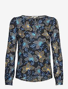 Blouses woven - long sleeved blouses - navy 4