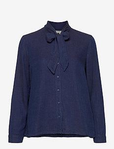 Blouses woven - langermede bluser - blue dark wash
