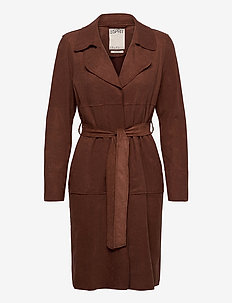 Coats woven - manteaux en laine - brown