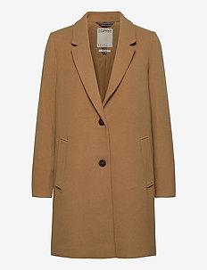 Coats woven - manteaux en laine - camel