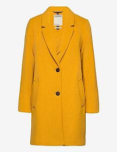 Coats woven - manteaux en laine - brass yellow