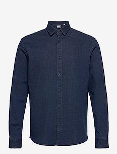 Shirts woven - basic overhemden - blue rinse