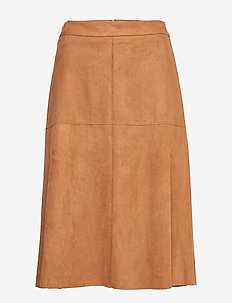 Skirts woven - midi skirts - toffee