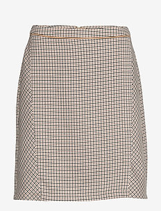 Skirts woven - short skirts - camel