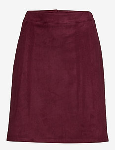 Skirts woven - midi skirts - bordeaux red