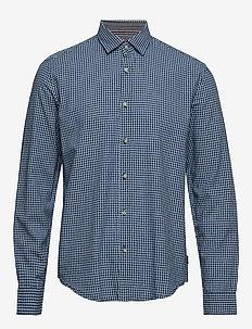 Shirts woven - geruite overhemden - grey blue