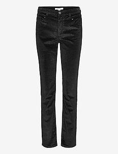 Pants woven - slim fit housut - black