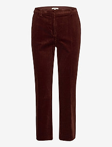 Pants woven - straight leg trousers - brown