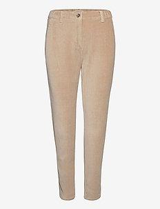 Pants woven - straight jeans - cream beige