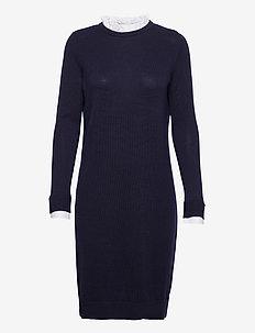 Dresses flat knitted - neulemekot - navy