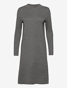 Dresses flat knitted - strikkjoler - gunmetal 4