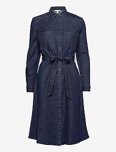 Dresses light woven - skjortekjoler - blue dark wash
