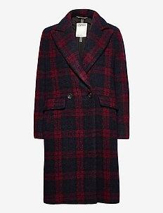 Coats woven - manteaux en laine - red 3