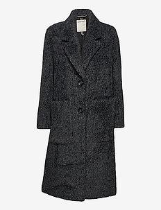 Coats woven - manteaux en laine - black 4