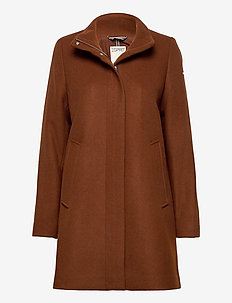 Coats woven - wollen jassen - rust brown
