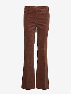 Pants woven - DARK BROWN