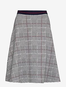 Skirts knitted - midi skirts - garnet red