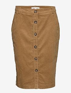Skirts woven - midi skirts - camel