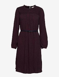 Dresses light woven - GARNET RED