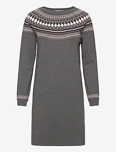 Dresses flat knitted - strikkjoler - dark grey 4