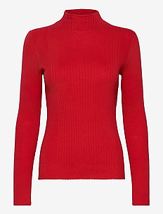 Sweaters - pulls à col roulé - red