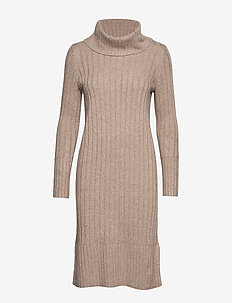 Dresses flat knitted - TAUPE 5