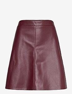 Skirts woven - korte rokken - bordeaux red