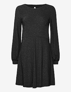 Dresses knitted - midiklänningar - black