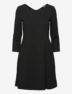 Dresses knitted - midi kjoler - black