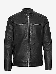 Jackets outdoor woven - vestes en cuir - black