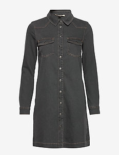 Dresses denim - grey dark wash