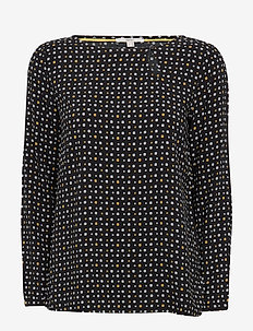 Blouses woven - bluzki z długimi rękawami - black