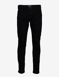 Pants woven - slim jeans - black