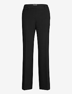 Pants woven - pantalons droits - black