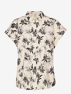 Blouses woven - short-sleeved shirts - off white