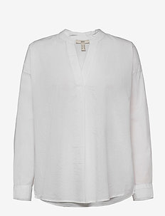 Blouses woven - long sleeved blouses - white
