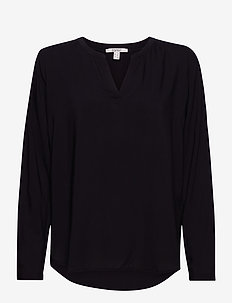 Blouses woven - long sleeved blouses - black