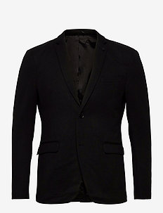Blazers knitted - blazers à boutonnage simple - black