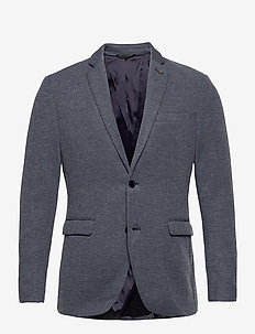Blazers knitted - blazers à boutonnage simple - grey blue 5