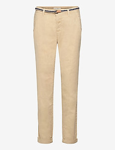 Pants woven - chinos - cream beige