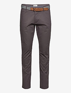 Pants woven - pantalons chino - dark grey