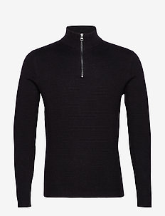 Sweaters - half zip jumpers - black