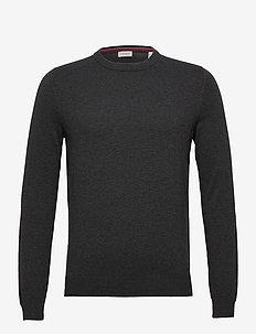 Sweaters - basic knitwear - dark grey
