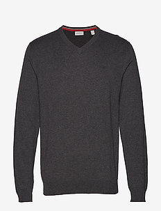Sweaters - basic knitwear - dark grey